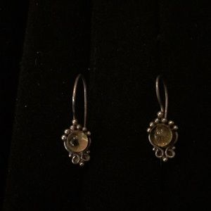 Jewelry - Vintage Amber and silver earrings